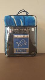 Oversized Detroit Lions Plush Blanket