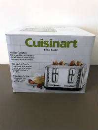 Cuisinart metal 4 slot toaster with multiple settings