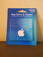 Apple iTunes & App Store gift cards