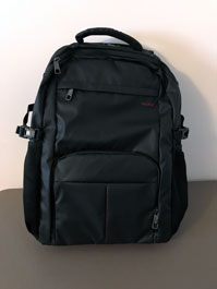Laptop backpack with several padded pockets