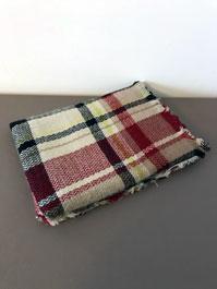 Tartan cashmere-like acrylic wrap scarf
