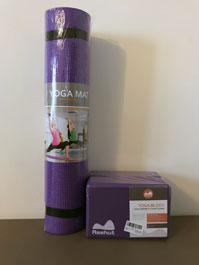 Yoga mat and soft yoga brick