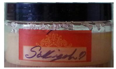 Handmade cherry vanilla bath scrub