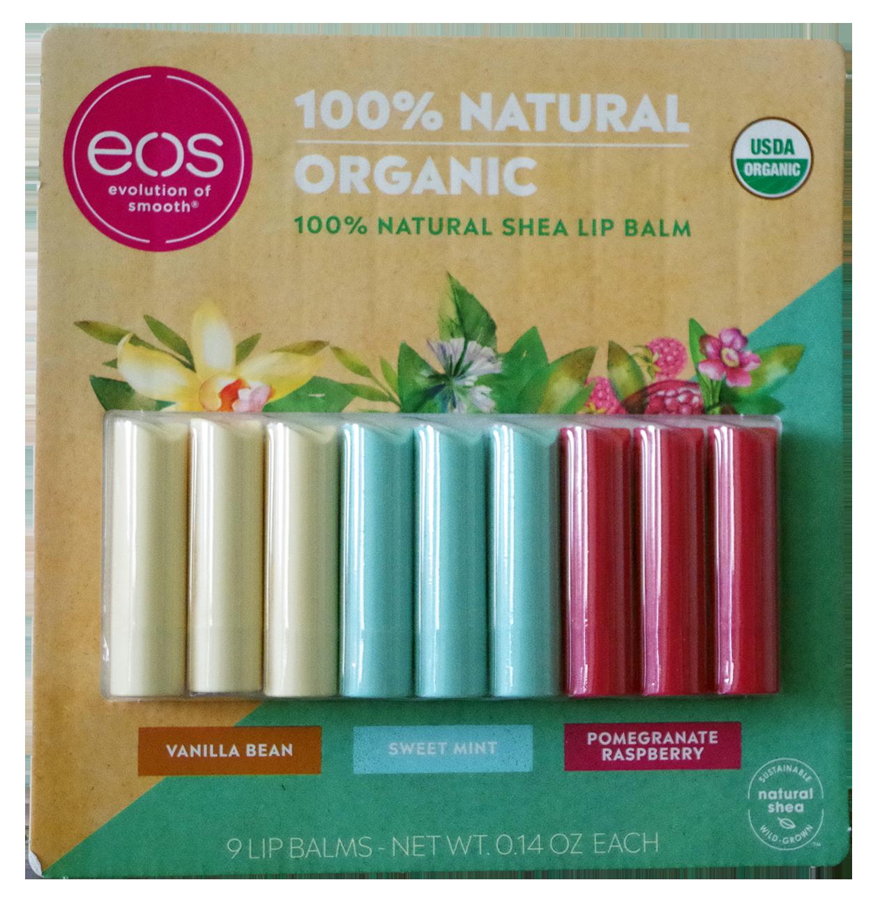 EOS 100% natural shea lip balm 9-piece set