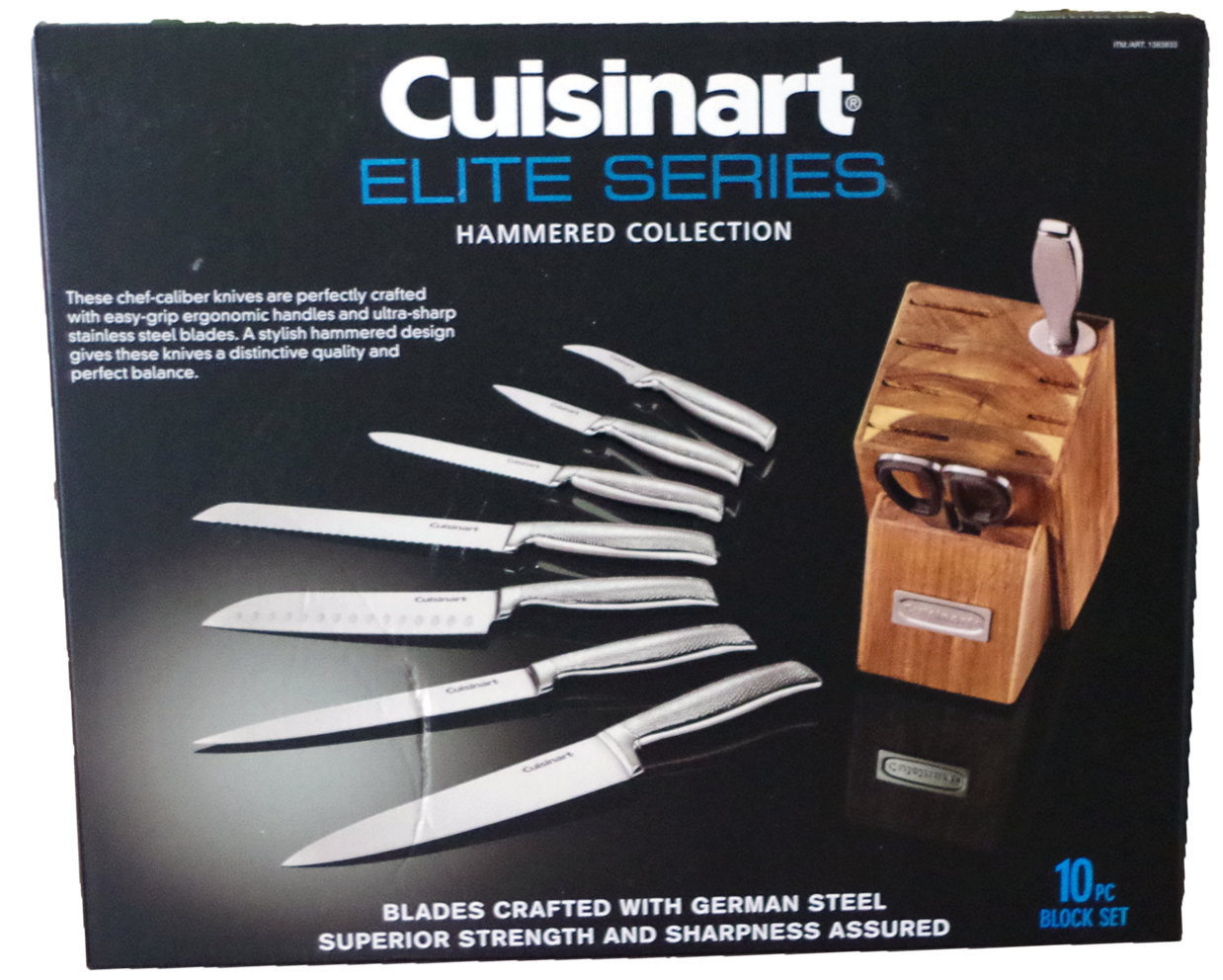 Cuisinart Elite Series hammered collection 10-piece knife with block set