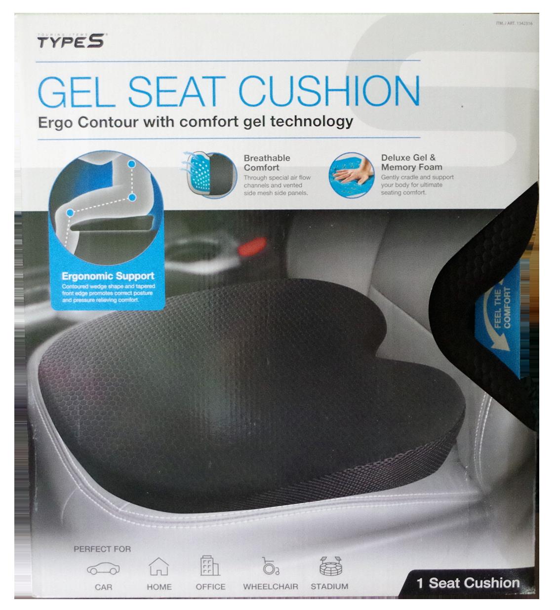Type S gel seat cushion