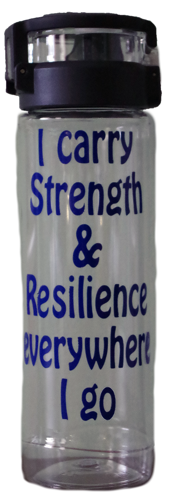 """""""I carry strength & resilience everywhere I go"""" water bottle"""